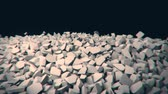 lasca : Animation depicting a crumbling, collapsing wall. 4K UHD