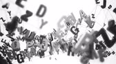 tipo de letra : 4K Alphabet Letters. 3D Animation. Seamless Looping Stock Footage