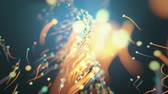 colidir : 4K Abstract Particles With Trails. CGI animation.