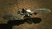 分離 : 4K NASA InSight Lander on the Surface of Mars. 3D CGI animation. (Elements furnished ny NASA)
