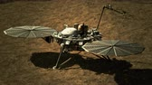 modulo : 4K NASA InSight Lander on the Surface of Mars. 3D CGI animation. (Elements furnished ny NASA)