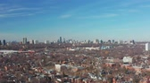 evler : 4K Aerial Establishing shot of a Downtown Toronto Neighborhood in late March.