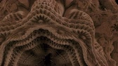 titolo : 4K Abstract Expanding Fractal Pattern. 3D CGI animation. Filmati Stock