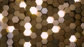 блок : 4K Hexagonal Grid. 3D CGI animation. Seamless loop Стоковые видеозаписи