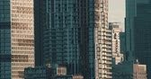 Establishing shot of skyscrapers. 4K filmic footage. Stock Footage