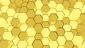 big data : Abstract Sci-Fi Honeycomb Grid. Seamless Looping. Stock Footage