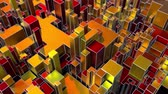 cubic : 4K Abstract Geometric Background. Seamless Looping. Sci-fi Theme. Stock Footage