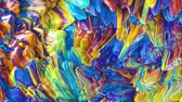 pinceles : Colorful Abstract Oil Paint Animation. Seamless Loop.
