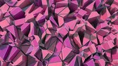art plastique : 4K Abstract Geometric Shards. 3D CGI animation. Seamless looping.