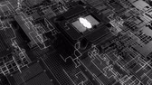 統計 : 4K Reveal of a futuristic CPU chip and motherboard. Highly realistic CGI animation.