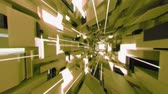 futurism : 4K Pan Across Futuristic Interior with Light Rays. 3D CGI animation. Stock Footage