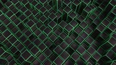 oneindig : 4K Abstract Geometric Cubes. Seamless Loop. Technology Background