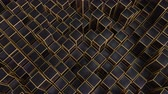 блок : 4K Abstract Geometric Cubes. Seamless Loop. Technology Background