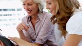 organization : Businesswomen planning together on the sofa at home Stock Footage
