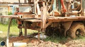 fieldwork : Modern rotary drill rigs bore water well