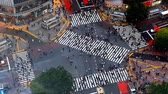 Time lapse of Shibuya pedestrian crossing also known as Shibuya scramble