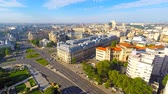 Aerial view of central Bucharest, Romania
