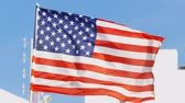 quarto : United States of America - Real National flag waving in the wind