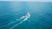 мыс : Small Fishing at sea - Aerial footage
