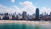 Tel Aviv coastline and skyline as seen from The Mediterranean sea.