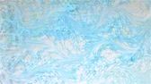 akvarell : Artistic Creative Ebru Dessign. Blu and White Paints Mixture Creates Wow Effect. Beautiful Abstract Art.