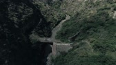Andes, canyon. bridge 動画素材