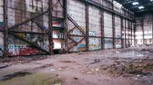 vyhořela : Aerial Abandoned Factory walls with Graffiti in Russia Dostupné videozáznamy
