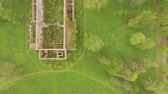 chess board : Beautiful view from the air to the geometry of the landscape in Catherines Park