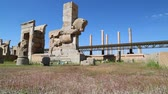 article : Persepolis in Iran near the old ruins destination historical monuments and ruin Stock Footage
