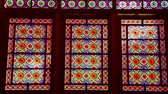 colorful : Inside the old antique mosque with glass and mirror traditional Islam architecture