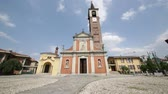 article : in italy sixth calende ancient building for religion catholic and clock tower