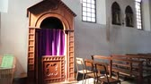 confess : in italy the old inside of monitor lizard villages church altar and religion building Stock Footage