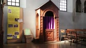 confess : in italy confession box inside the church of monitor lizard villages lombardy