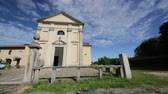 article : in italy lizard ancient villages for catholic religion building and clock tower