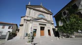 article : in italy Sumirago ancient building for religion catholic and clock tower