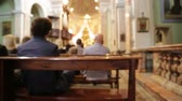 article : in italy casorate sempione inside church religion building the altar and people in wedding cerimony