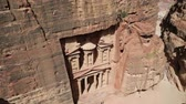 siq : the antique site of Petra in Jordan the beautiful wonder of the world