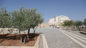 bishop : people and tourist in the antique site of mount nebo in jordan