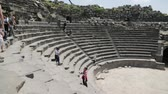 arqueológico : In jordan the antique theater and archeological site for classical heritage for tourist Vídeos