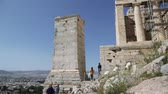 yunan : in greek antique ruins Stok Video