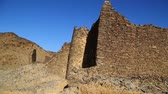 meroe : in africa sudan berenice the antique temple of the black pharaohs in the middle of the desert Stock Footage