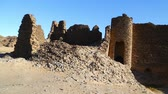 wadi : in africa sudan berenice the antique temple of the black pharaohs in the middle of the desert Stock Footage