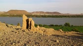 kush : in africa sudan kerma the antique city of the nubians near the nile and tombs