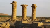куш : in africa sudan kerma the antique city of the nubians near the nile and tombs