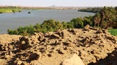 faraon : in africa sudan kerma the four cataract of the nile and nature near the river