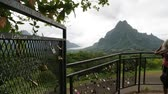 věčnost : in polynesia bora bora the view of the mountain and the padlocks concept of love
