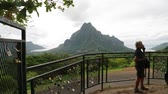cadeado : in polynesia bora bora the view of the mountain and the padlocks concept of love
