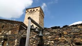 in georgia mestia the old village protect by unnesco and the antique tower for the war