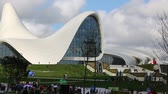 azerbaijan : in azerbaijan baku the view of the art center museum modern buildings abstract concept