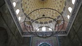 halı : in azerbaijan juma mosque the view of the antique buildings Stok Video